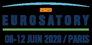 eurosatory 2020 Logo texte blanc fond bleu avec date FR 20 Logo texte bleu fond blanc avec date FR