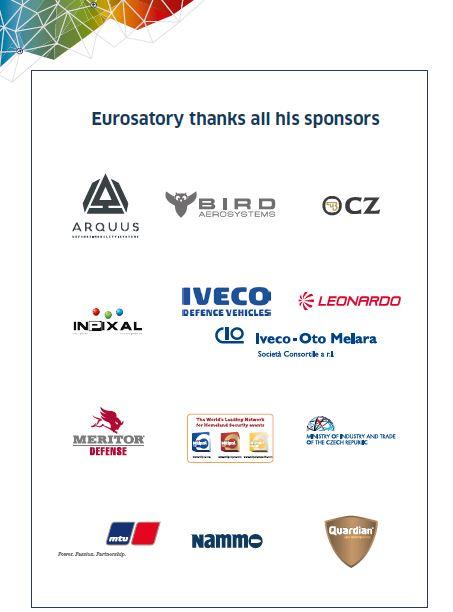EUROSATORY 2018 Thank you sponsors