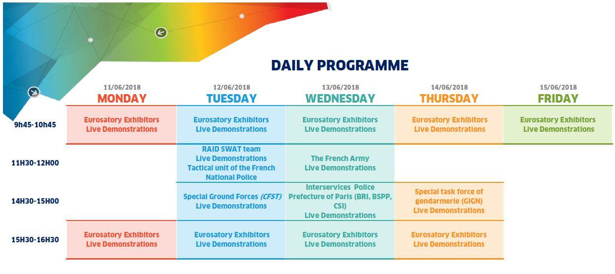 Eurosatory 2018 - Daily Programme 25.04.2018 sans logo