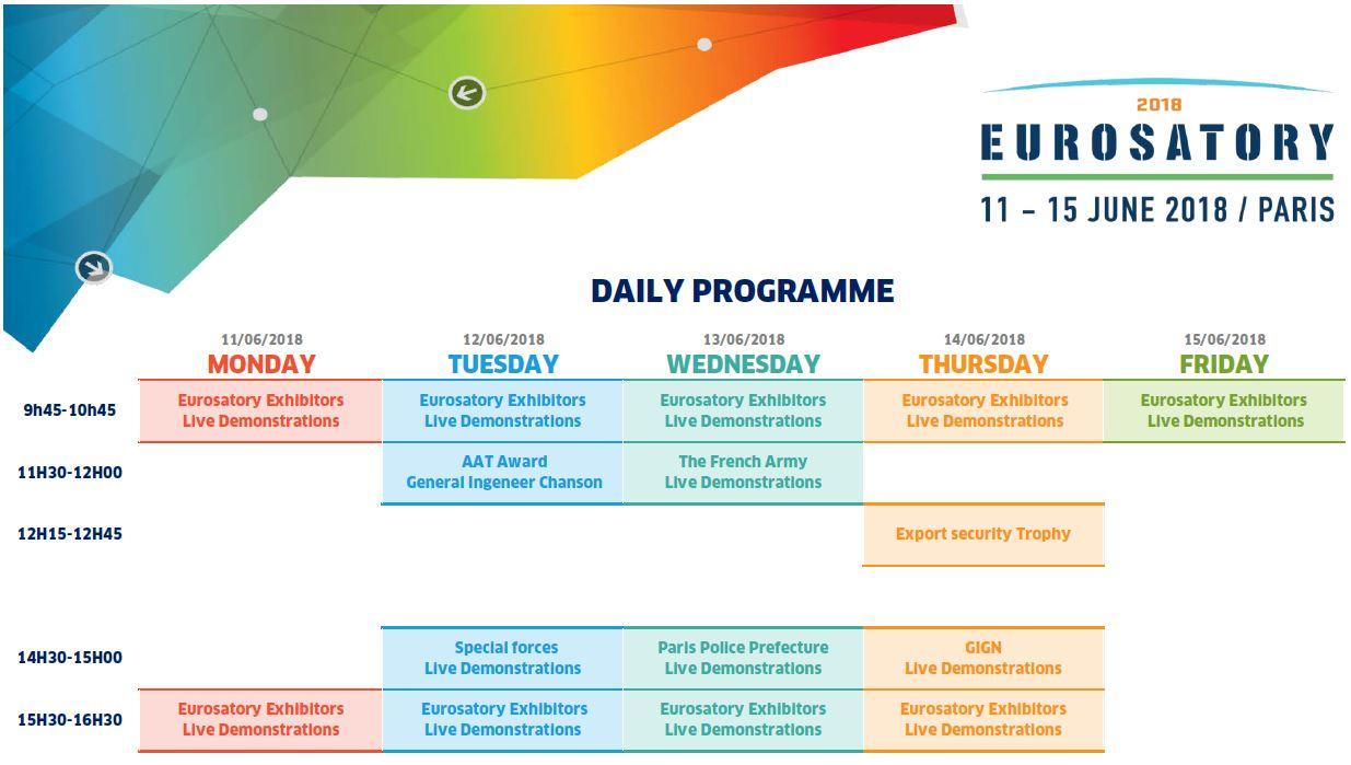 Eurosatory 2018 - Daily Programme 25.04.2018