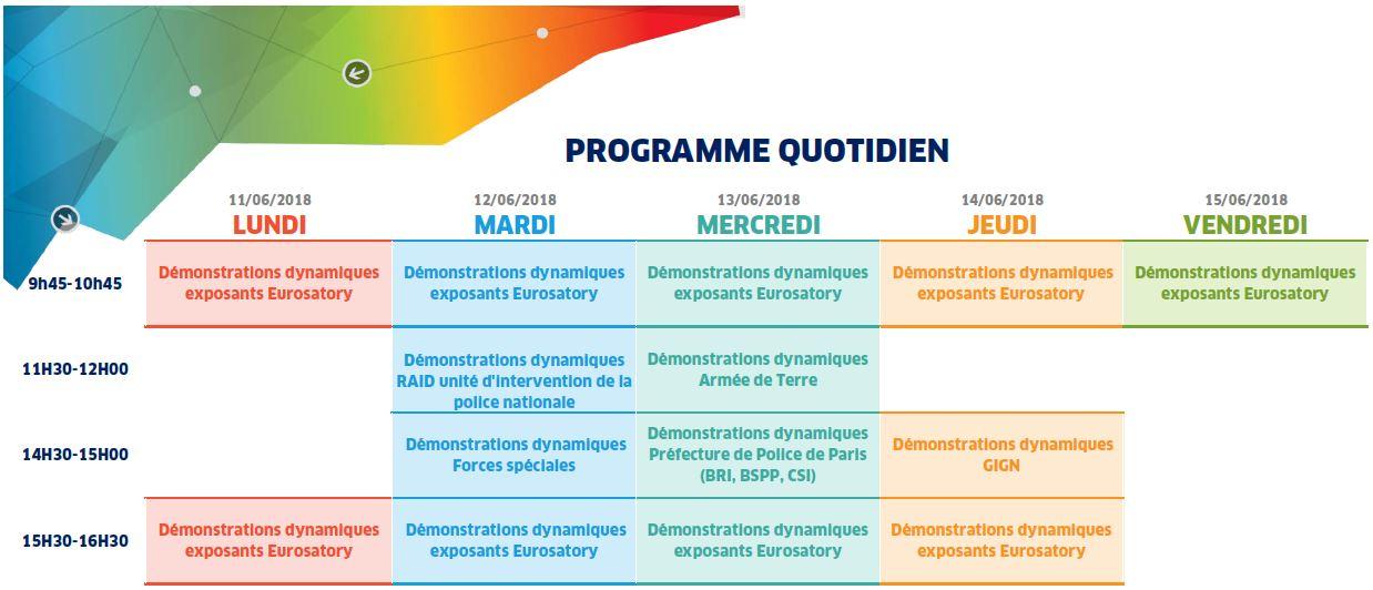 Eurosatory 2018 - Programme quotidien 15.05.2018 sans logo